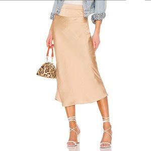 COPY - Free People Gold Normani Bias Skirt